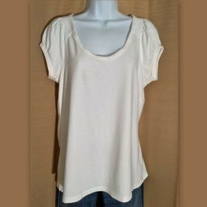 APT. 9 White Scoop Neck Soft Modal TOP Shirt